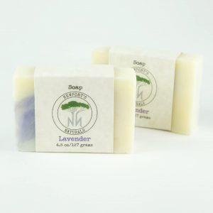 2 Newport's Naturals lavender soap with label